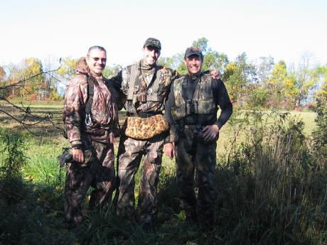 Dad, Kris, and Terry in the field