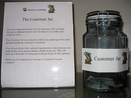 Monster's Customer Jar