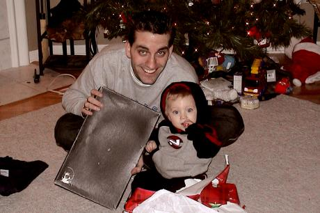"Kris & Mason with ""The Box"""