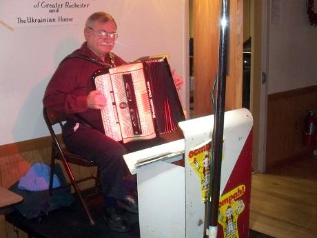 Accordion player at Ukrainian Home of Rochester