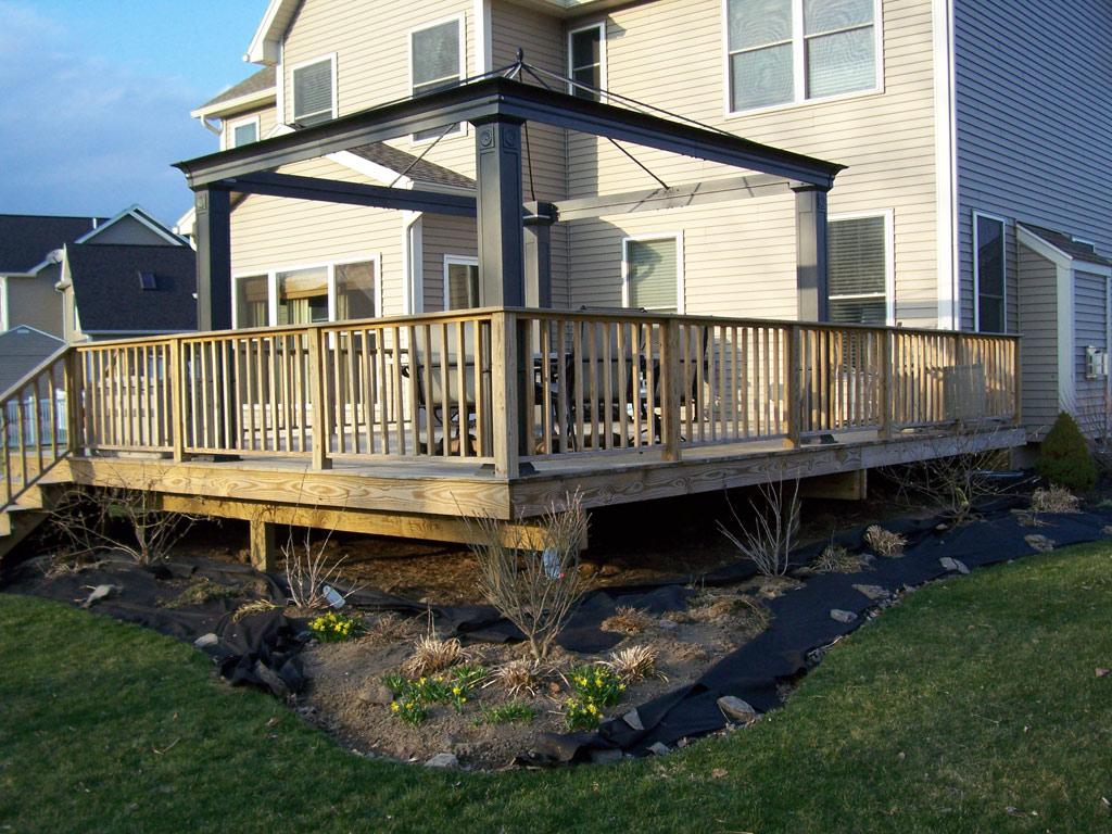 Home ideas plans on building a small deck for Deck building plans