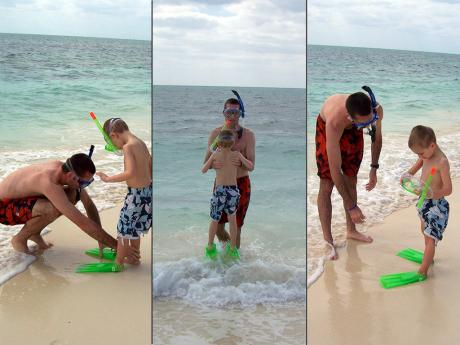 Mason's first Ocean Snorkel Experience