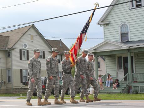 Troops in the Webster Memorial Day Parade