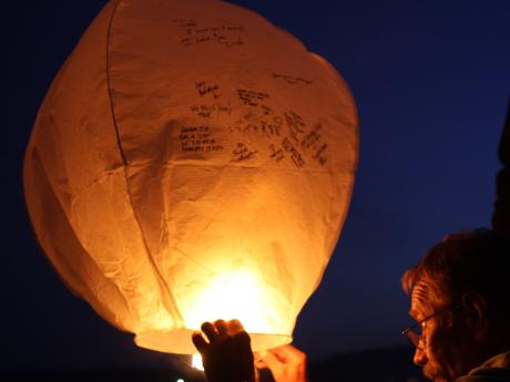 Neal with Chinese Lantern