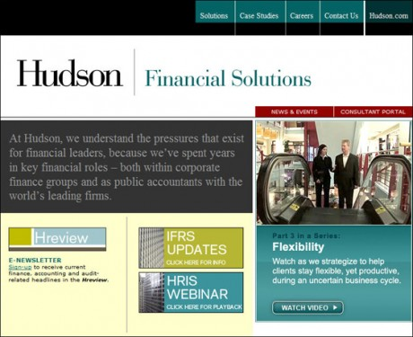 Hudson Financial Solutions Home Page 2004-2009