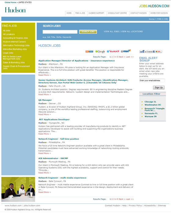 Hudson Jobs Portal Gets Search Engine Optimized