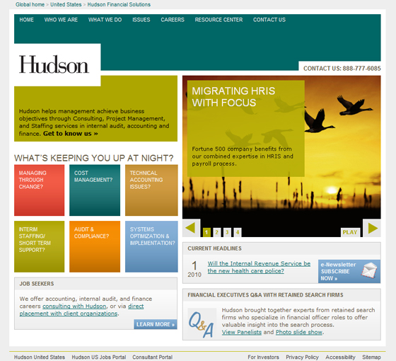 Hudson Financial Solutions Microsite Home