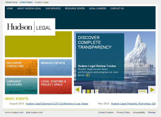 Hudson Legal Microsite Home
