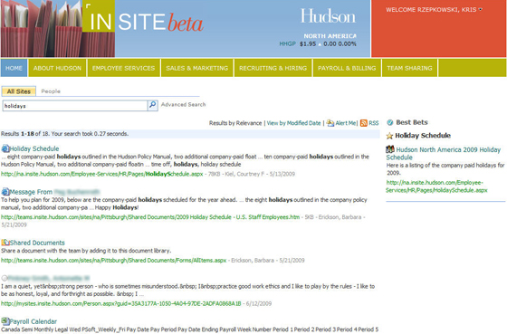 Improved Intranet Search
