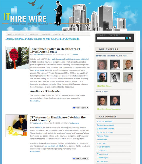 IT Hire Wire Blog Home Page